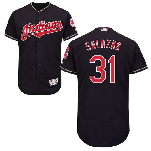 Men's Majestic Cleveland Indians #31 Danny Salazar Navy Blue Alternate Flex Base Authentic Collection MLB Jersey