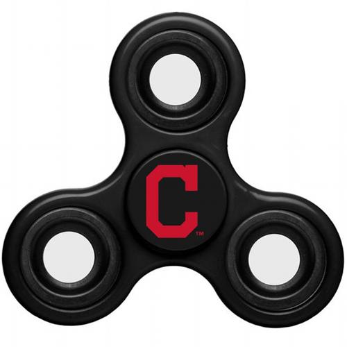 MLB Cleveland Indians 3 Way Fidget Spinner C50 - Black