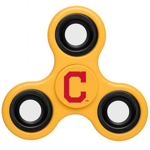 MLB Cleveland Indians 3 Way Fidget Spinner D50 - Yellow