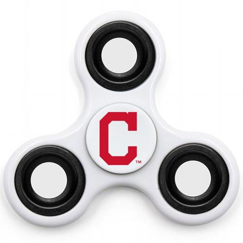 MLB Cleveland Indians 3 Way Fidget Spinner I50 - White