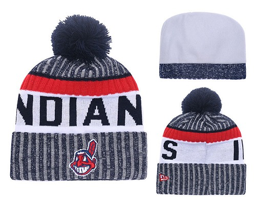 MLB Cleveland Indians Stitched Knit Beanies Hats 015