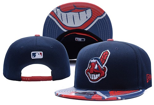MLB Cleveland Indians Stitched Snapback Hats 016