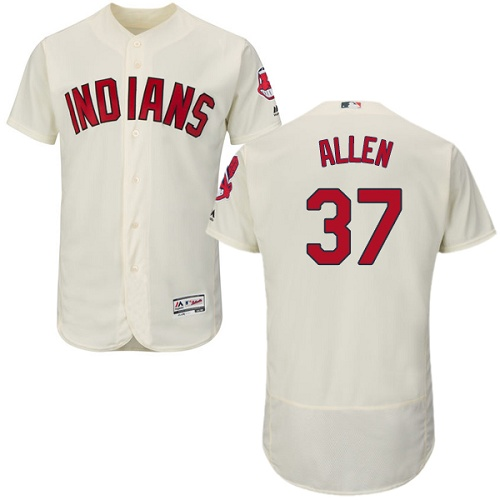 Men's Majestic Cleveland Indians #37 Cody Allen Cream Flexbase Authentic Collection MLB Jersey
