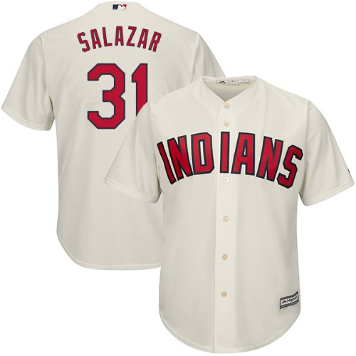 Men's Majestic Cleveland Indians #31 Danny Salazar Replica Cream Alternate 2 Cool Base MLB Jersey