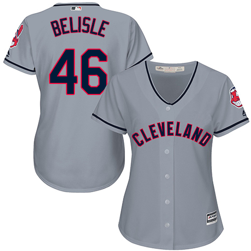 Women's Majestic Cleveland Indians #46 Matt Belisle Authentic Grey Road Cool Base MLB Jersey