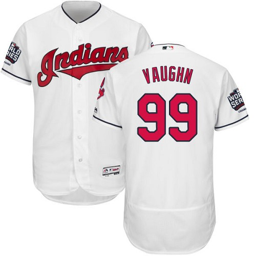 Men's Majestic Cleveland Indians #99 Ricky Vaughn White 2016 World Series Bound Flexbase Authentic Collection MLB Jersey