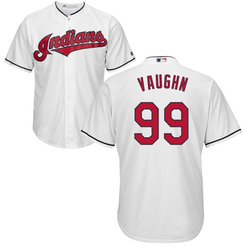 Youth Majestic Cleveland Indians #99 Ricky Vaughn Authentic White Home Cool Base MLB Jersey
