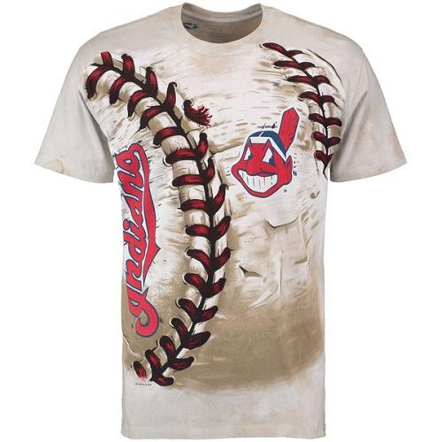 MLB Cleveland Indians Hardball Tie-Dye T-Shirt - Cream