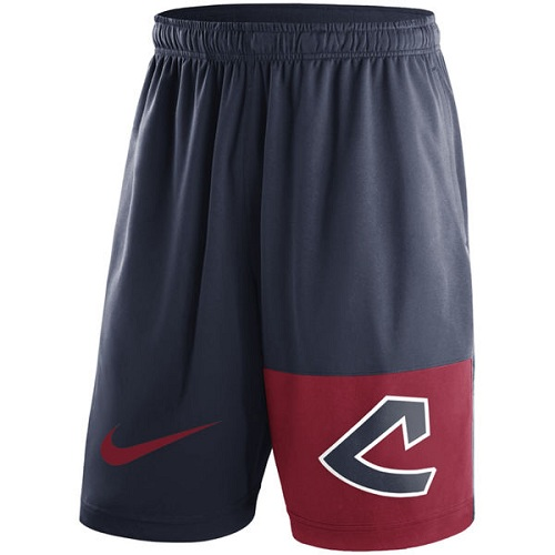 MLB Men's Cleveland Indians Nike Navy Cooperstown Collection Dry Fly Shorts