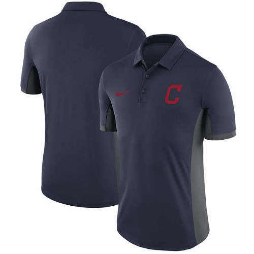 MLB Men's Cleveland Indians Nike Navy Franchise Polo T-Shirt