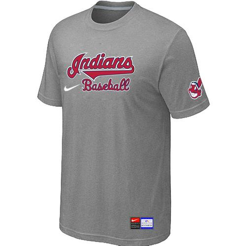 MLB Men's Cleveland Indians Nike Practice T-Shirt - Grey