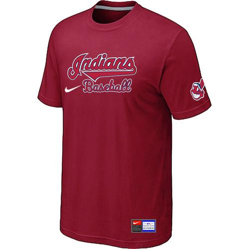 MLB Men's Cleveland Indians Nike Practice T-Shirt - Red