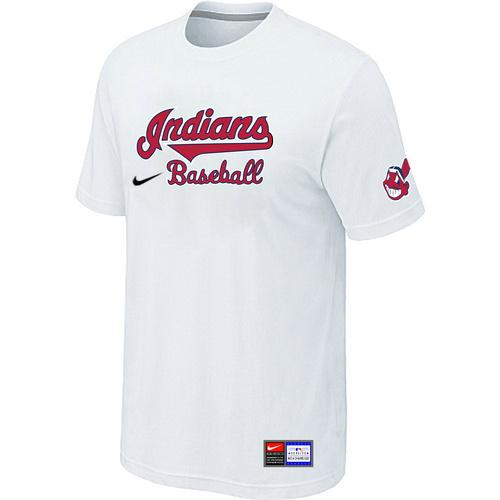 MLB Men's Cleveland Indians Nike Practice T-Shirt - White