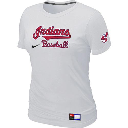 MLB Women's Cleveland Indians Nike Practice T-Shirt - White